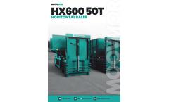 Moovmor - Model HX600-50T - Horizontal Baler - Datasheet