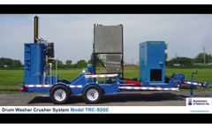 Drum Washer Crusher System Portable TRC8000 - Video