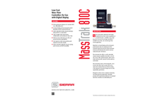 MassTrak 810C Low-Cost Mass Flow Controllers for Gas with Digital Display - Technical Datasheet