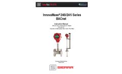 InnovaMass 240i/241i Series BACnet - Instruction Manual