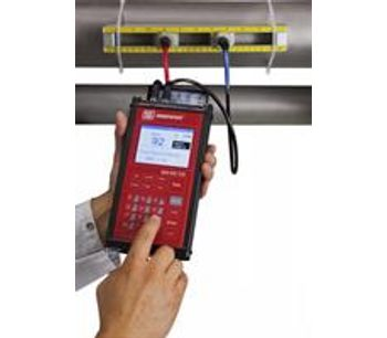 Portable Clamp-On Ultrasonic Flow Meter for High Accuracy Liquid Metering-1