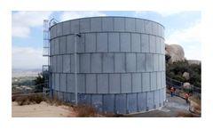 Precision Engineered Hot Dipped Galvanized Steel Storage Tanks