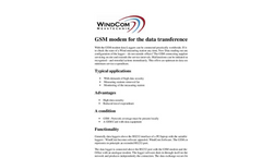 WindCom - GSM Modem for the Data Transference - Brochure