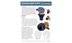 EchoTouch US06 & US12 Reflective Ultrasonic Liquid Level Transmitter - Datasheet