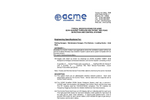 ACME - Model CEW-4 Series - Control Panel - Specifications