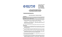 ACME - Model CEL-LS - MegaSet - Specifications