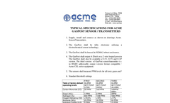 ACME - Model RS485 - Gaspost Toxic Gas Sensor / Transmitter - Specifications
