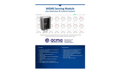 ACME MGMS Sensing Module for Gas Detection & Control System - Brochure