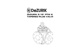 DeZURIK - Model PTW - Balancing Plug Valves - Manual