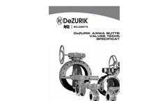 DeZURIK - Model AWWA - Butterfly Valves (BAW) - Technical Brochure