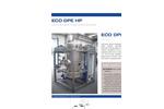 ECO DPE HP Series Low Temperature Vacuum Evaporator with Heat Pump - Datasheet
