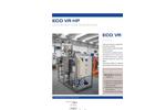 ECO VR HP Series Low Temperature Vacuum Evaporator with Heat Pump - Datasheet