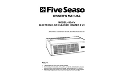 Model 490AIV - Tabletop Electronic Air Cleaner Negative Ionizer & VOC Filter - Manual