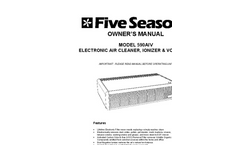 Deluxe - Model 590AIV - Tabletop Electronic Air Cleaner Negative Ionizer & VOC Filter - Manual