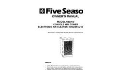 Model 680AIV - Mini Console Electronic Air Cleaner Negative Ionizer & VOC Filter - Manual