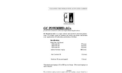 GC Powdered AG+ Powdered Activated Carbon For Agricultural Applications Brochure
