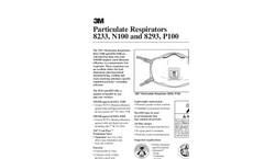 Particulate Respirators 8233 and 8293, N100 Technical Data Sheet