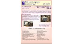 Model Series-100 - Polypropylene Lab Porter Filter Press System - Datasheet