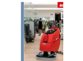 Mega II scrubber drier for big areas brochure