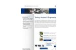 Testing, Analysis & Engineering Services - Brochure