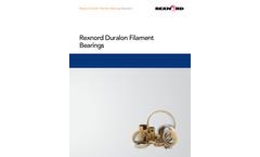 Rexnord - Duralon Filament Bearings - Brochure