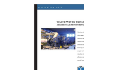 Waste Water Treatment Aeration Air Monitoring & Control Application Brochure