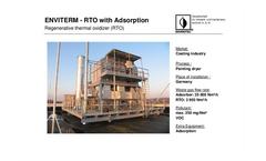 Regenerative Thermal Oxidizer (RTO) Brochure