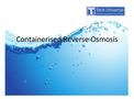 Containerised Reverse Osmosis
