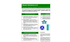 Hazardous Materials and Dangerous Goods Shipping Services Brochure