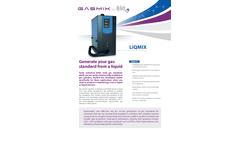LiqMix - Gas from Liquid Generator Brochure