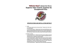 Manhole Odor Insert Specifications Sheet