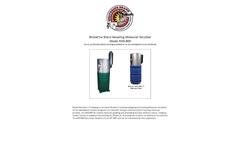 Wolverine Brand Recycling Molecular Scrubber Model RMS-800 - Brochure
