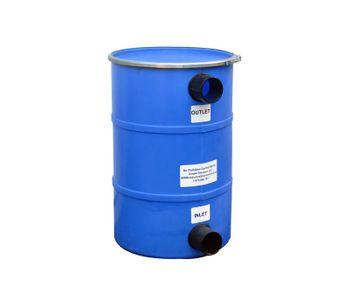 Wolverine - Model PCB-150 - 150LB HDPE - Max 200CFM - Air Pollution Control Barrel