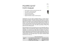 Picarro - Model G2107 - Formaldehyde Measure Analyzer Brochure