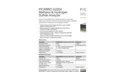 Methane & Hydrogen Sulfide Analyzer Model G2204 Brochure
