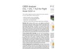 CRDS Analyzer for flight ready CO2/CH4/H2O G2301-m Brochure