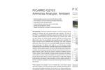 Picarro - Model G2103 - Ammonia Measure Analyzer Brochure
