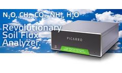 Picarro - Model G2508 - CRDS Analyzers N2O + CH4 + CO2 + NH3 + H2O in Air