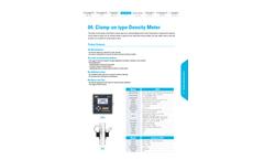 WESS - Model EW Series - Clamp-On type Density Meter - Brochure