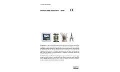 WESS - Model ENV200 Series - Ultrasonic Sludge Density Meter - Brochure