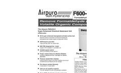 Airpura F600DLX Air Purifiers Brochure
