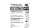 Airpura - Model UV600 - Air Purifiers - Datasheet
