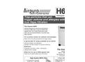 Airpura H600 Air Purifiers Brochure