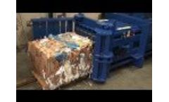 HZ 70T Horizontal Baler Making a Bale from Cardboard Boxes Video