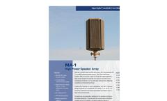 HyperSpike - High Powered Speaker Array (HPSA) System Brochure