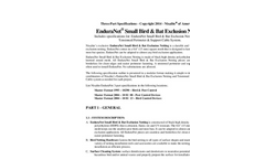 EnduraNet - SmallBird & Bat Exclusion Netting - Technical Specifications