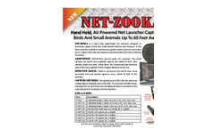 NET-ZOOKA - Hand Held, Lightweight Net Launcher - Brochure