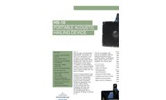 HyperSpike - Model HS-10 - Portable Acoustic Hailing Device - Brochure