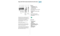 Model 2818-2823 Conductivity/Resistivity Electrodes - Data Sheet