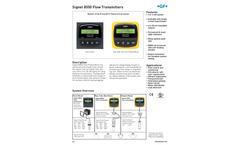 +GF+ Signet - Model 8550 - Flow Transmitters - Datasheet